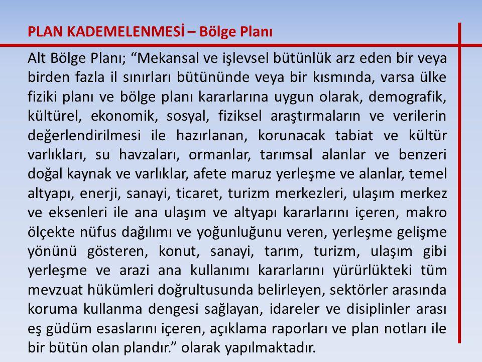 PLAN KADEMELENMESİ – Bölge Planı