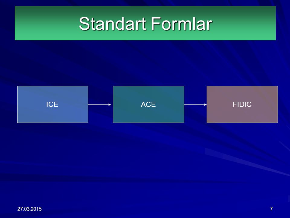 Standart Formlar ICE ACE FIDIC 08.04.2017