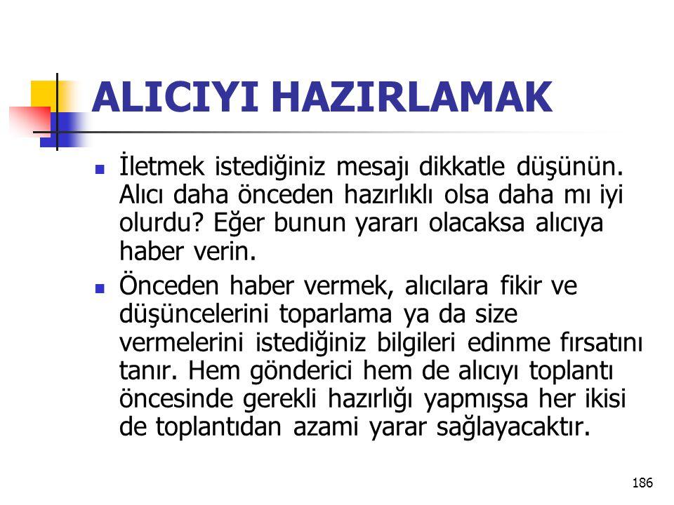 ALICIYI HAZIRLAMAK