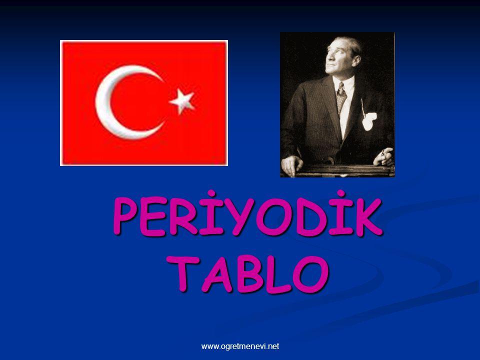 www.ogretmenevi.net PERİYODİK TABLO www.ogretmenevi.net