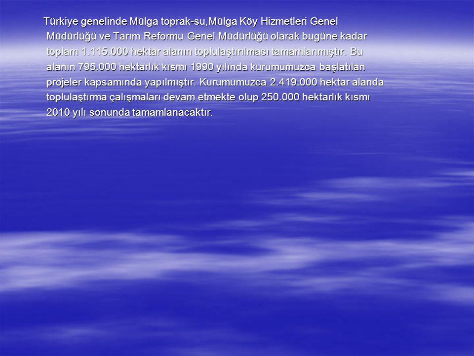 Türkiye genelinde Mülga toprak-su,Mülga Köy Hizmetleri Genel