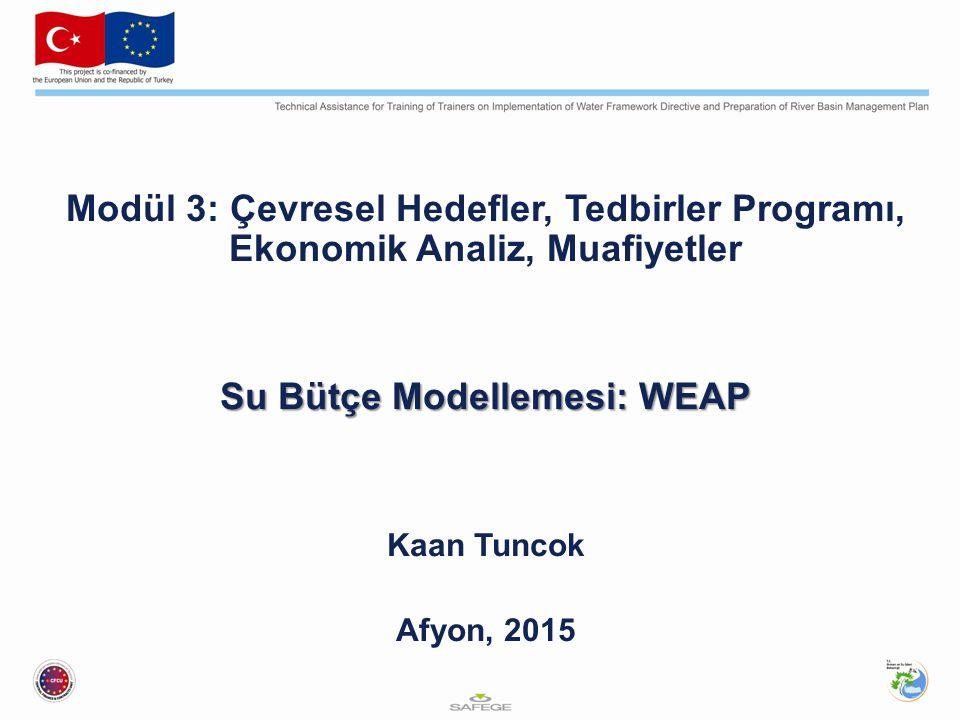 Su Bütçe Modellemesi: WEAP