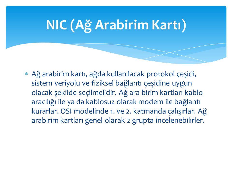 NIC (Ağ Arabirim Kartı)