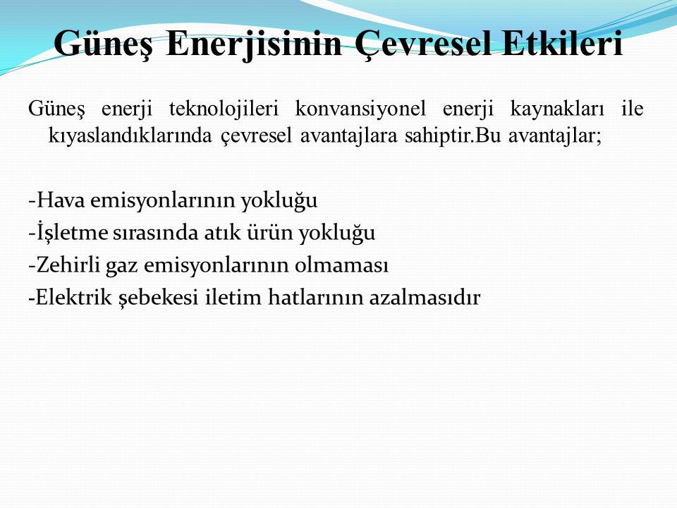 Güneş Enerjisinin Çevresel Etkileri