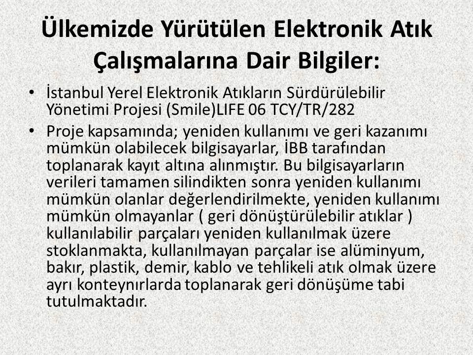 Ülkemizde Yürütülen Elektronik Atık Çalışmalarına Dair Bilgiler: