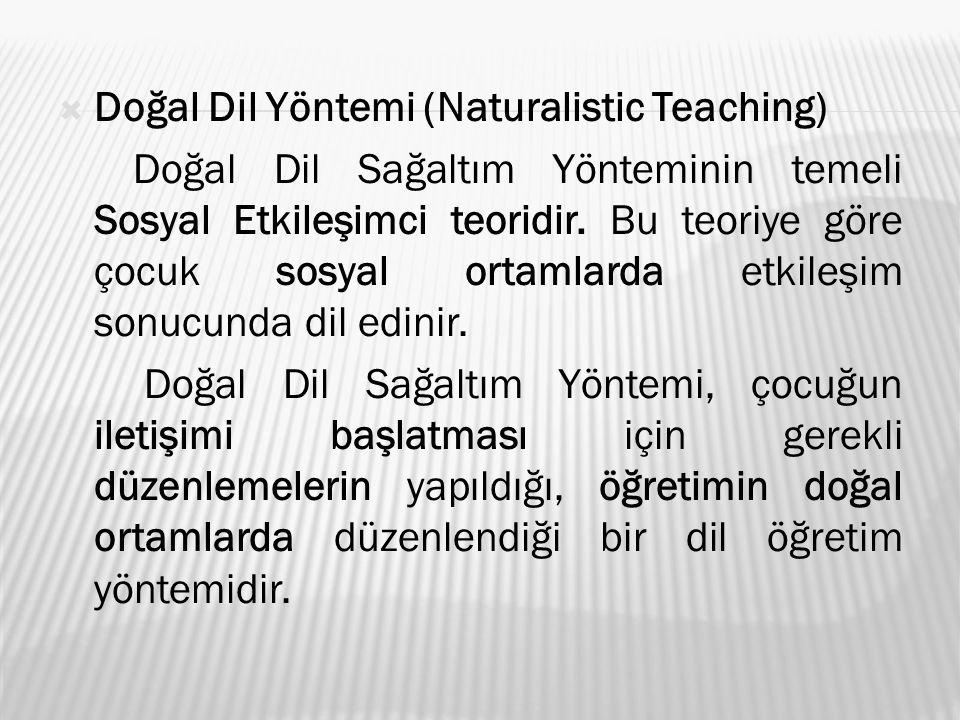 Doğal Dil Yöntemi (Naturalistic Teaching)
