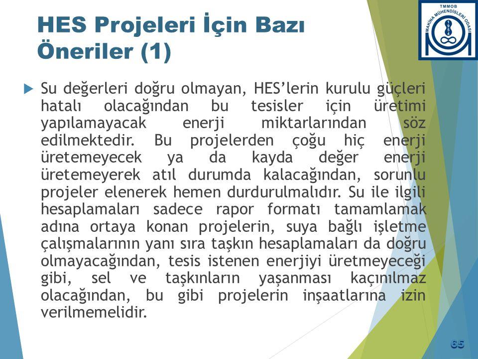 HES Projeleri İçin Bazı Öneriler (2)