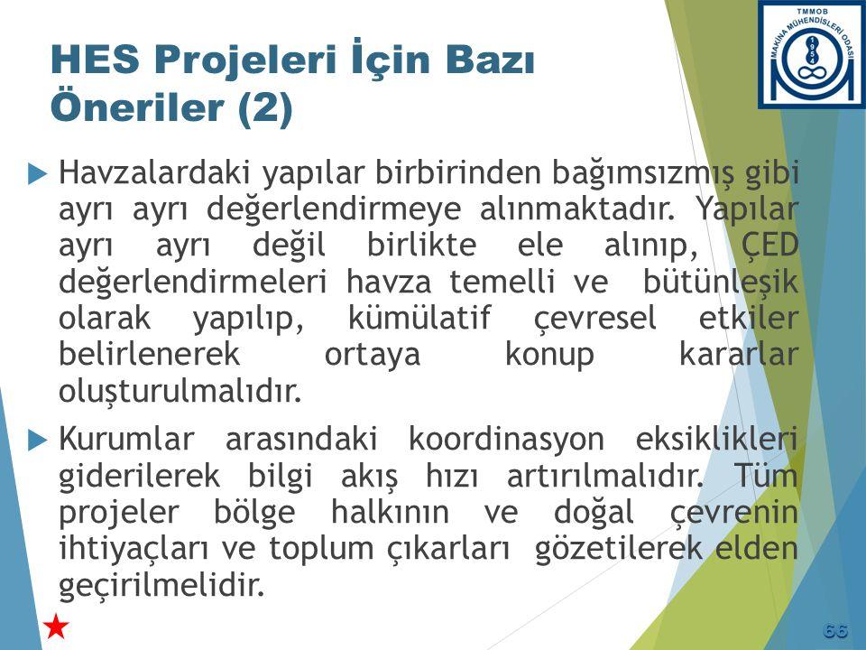 HES Projeleri İçin Bazı Öneriler (3)