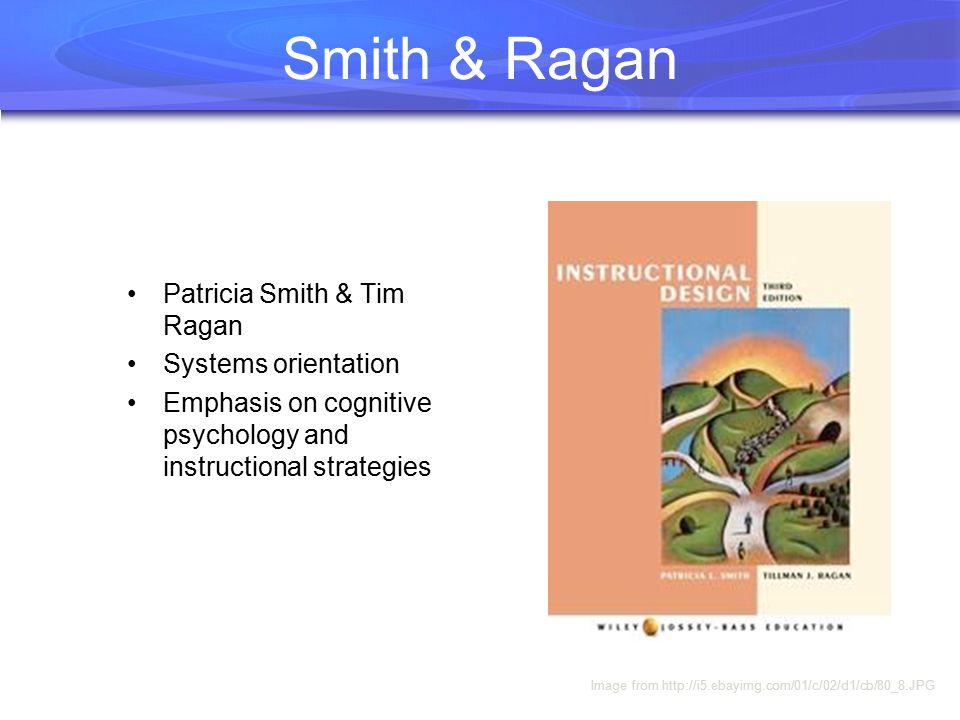 Smith & Ragan Patricia Smith & Tim Ragan Systems orientation