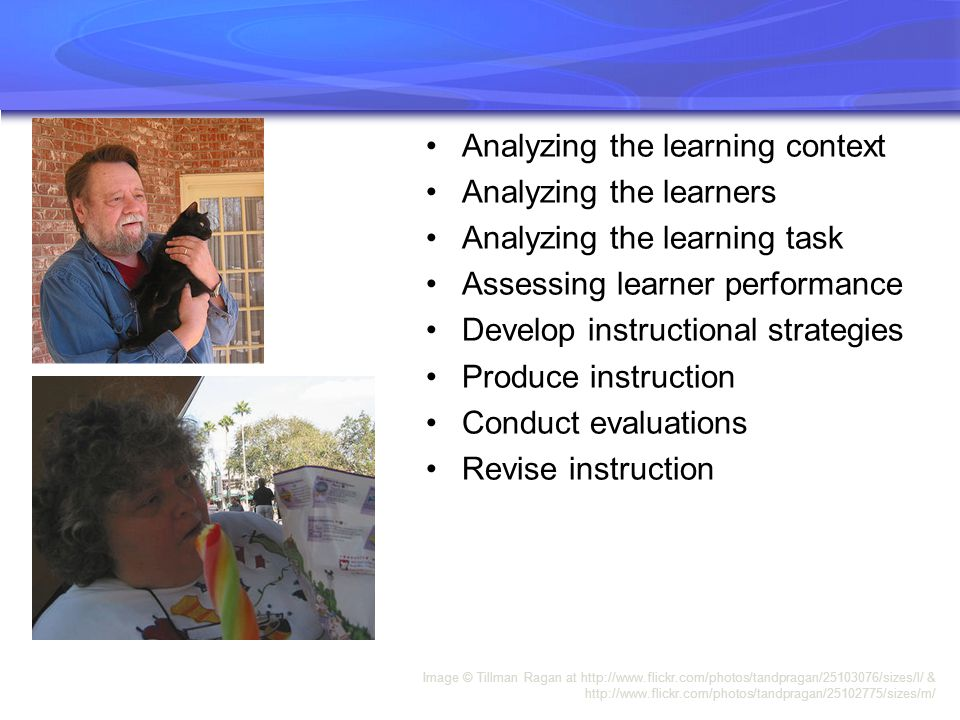 Analyzing the learning context Analyzing the learners