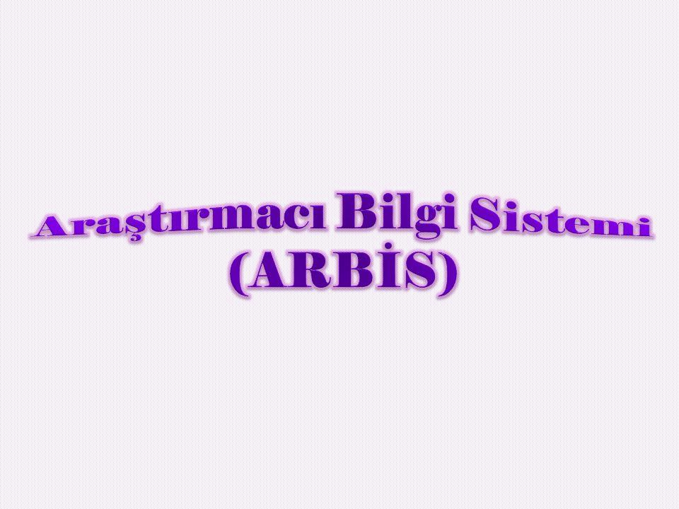 Araştırmacı Bilgi Sistemi (ARBİS)