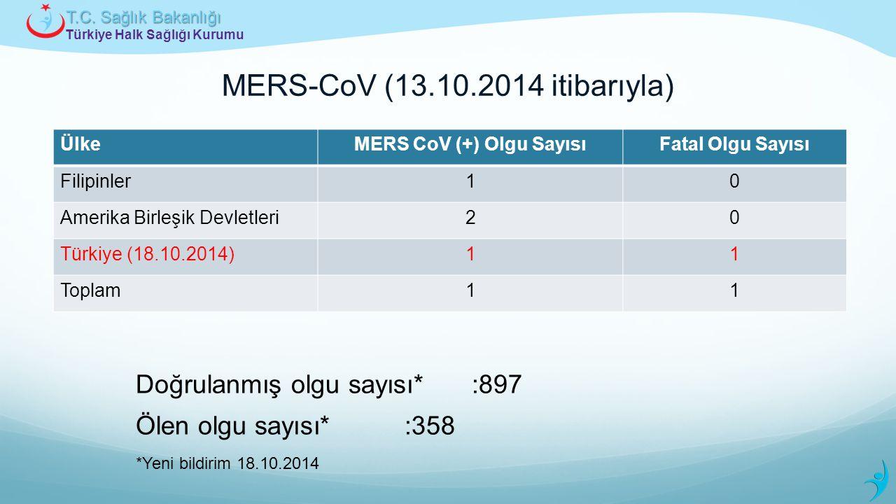 MERS-CoV (13.10.2014 itibarıyla)
