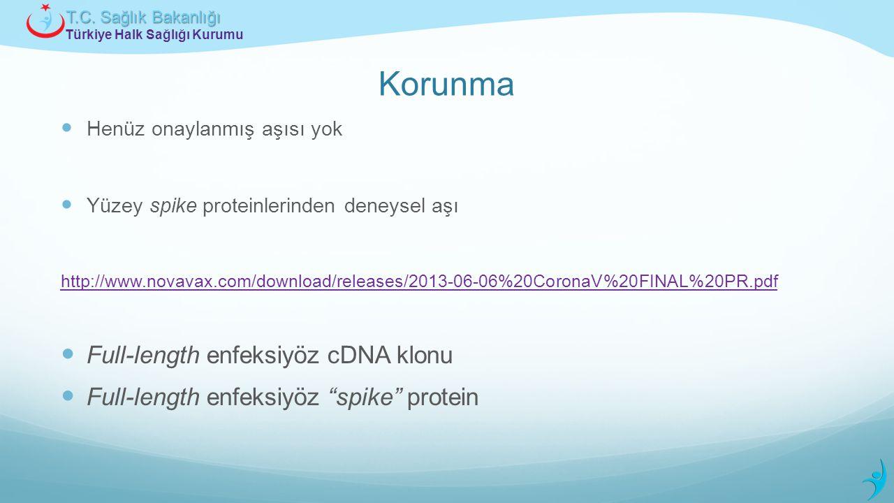 Korunma Full-length enfeksiyöz cDNA klonu