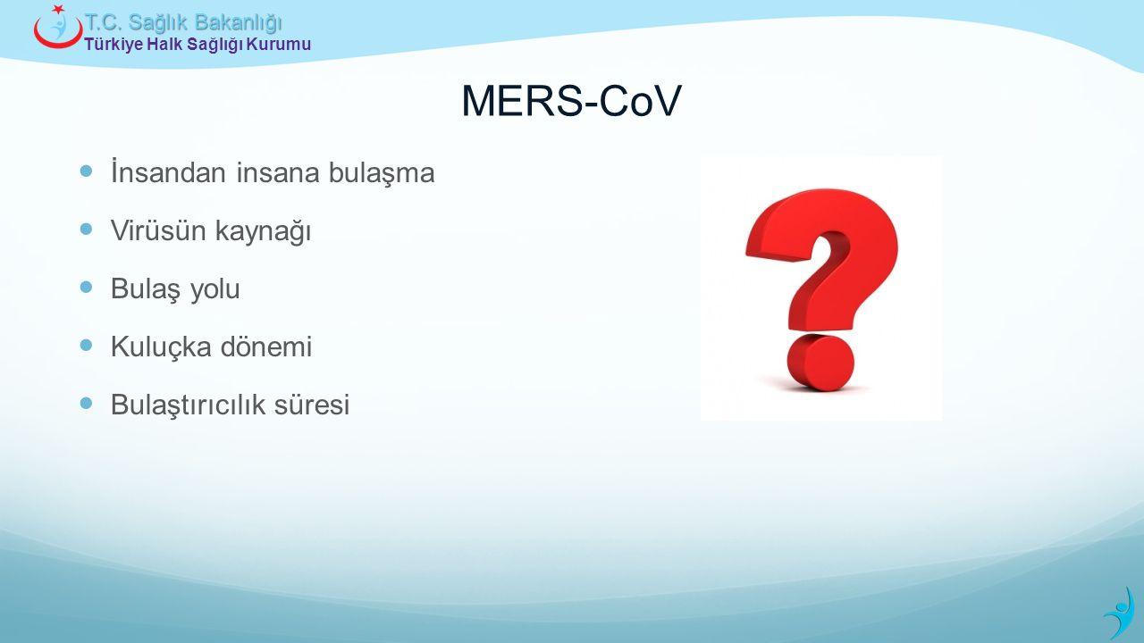 MERS-CoV İnsandan insana bulaşma Virüsün kaynağı Bulaş yolu