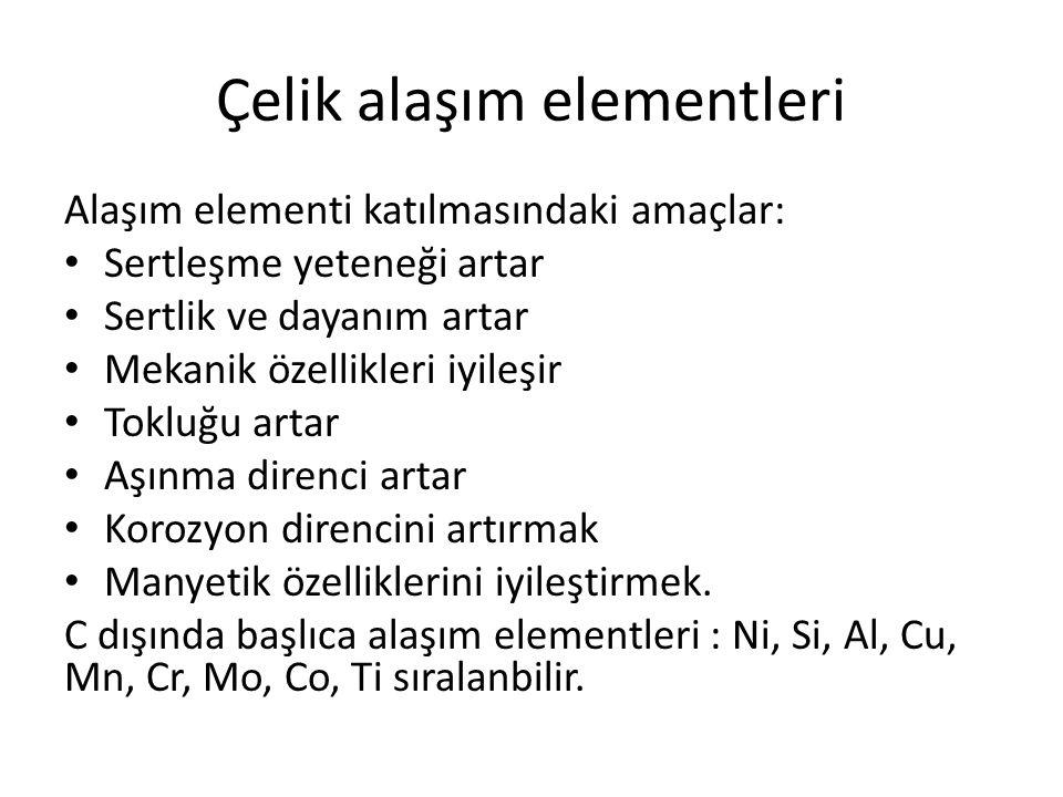 Çelik alaşım elementleri
