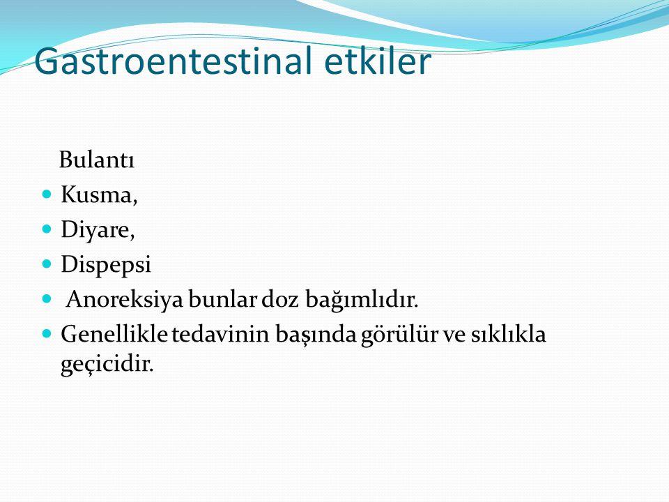 Gastroentestinal etkiler
