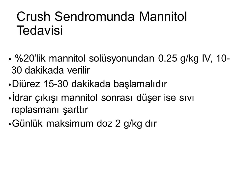 Crush Sendromunda Mannitol Tedavisi