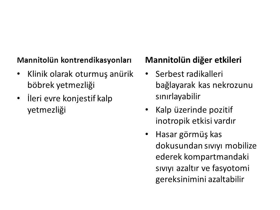 Mannitolün diğer etkileri