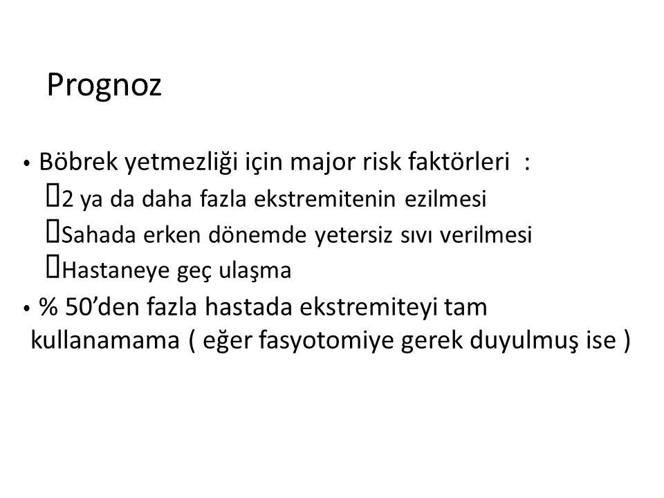 Prognoz Böbrek yetmezliği için major risk faktörleri :