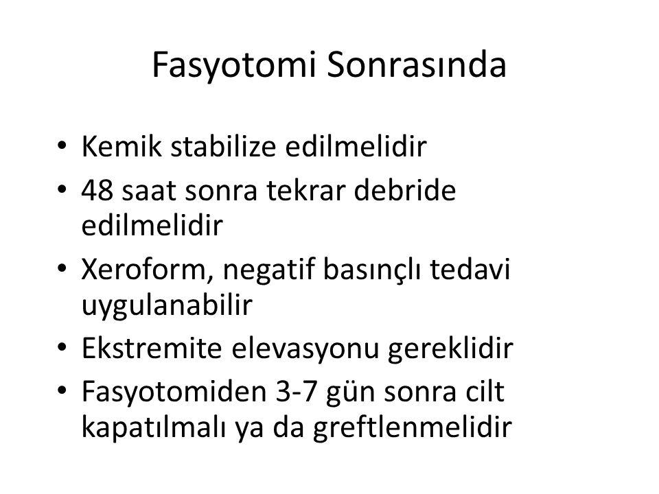 Fasyotomi Sonrasında Kemik stabilize edilmelidir