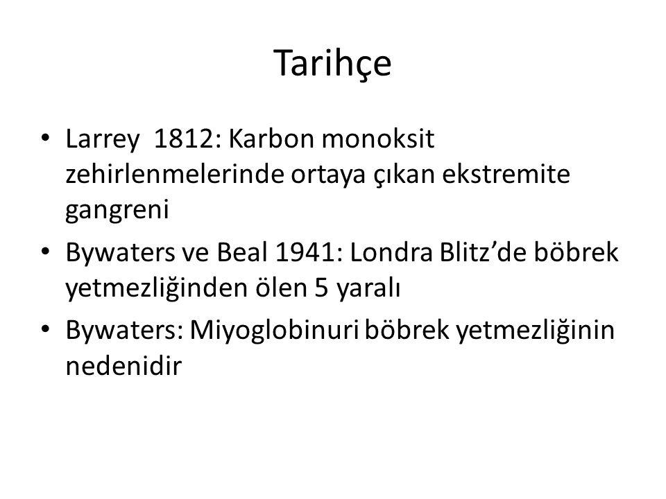 Tarihçe Larrey 1812: Karbon monoksit zehirlenmelerinde ortaya çıkan ekstremite gangreni.