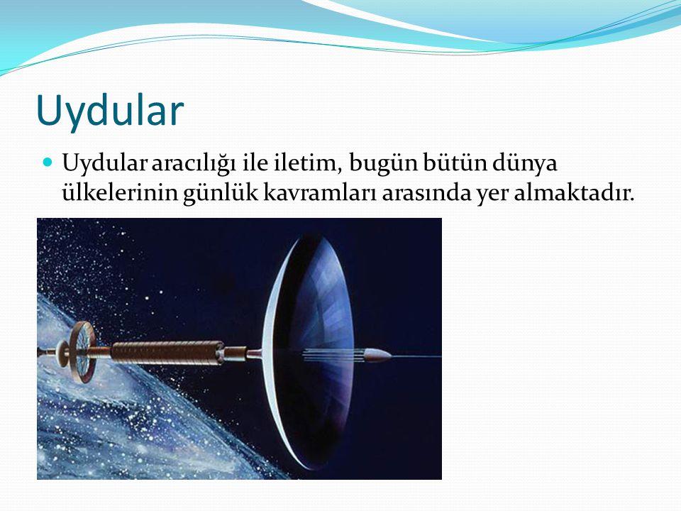 Uydular Uydular aracılığı ile iletim, bugün bütün dünya ülkelerinin günlük kavramları arasında yer almaktadır.