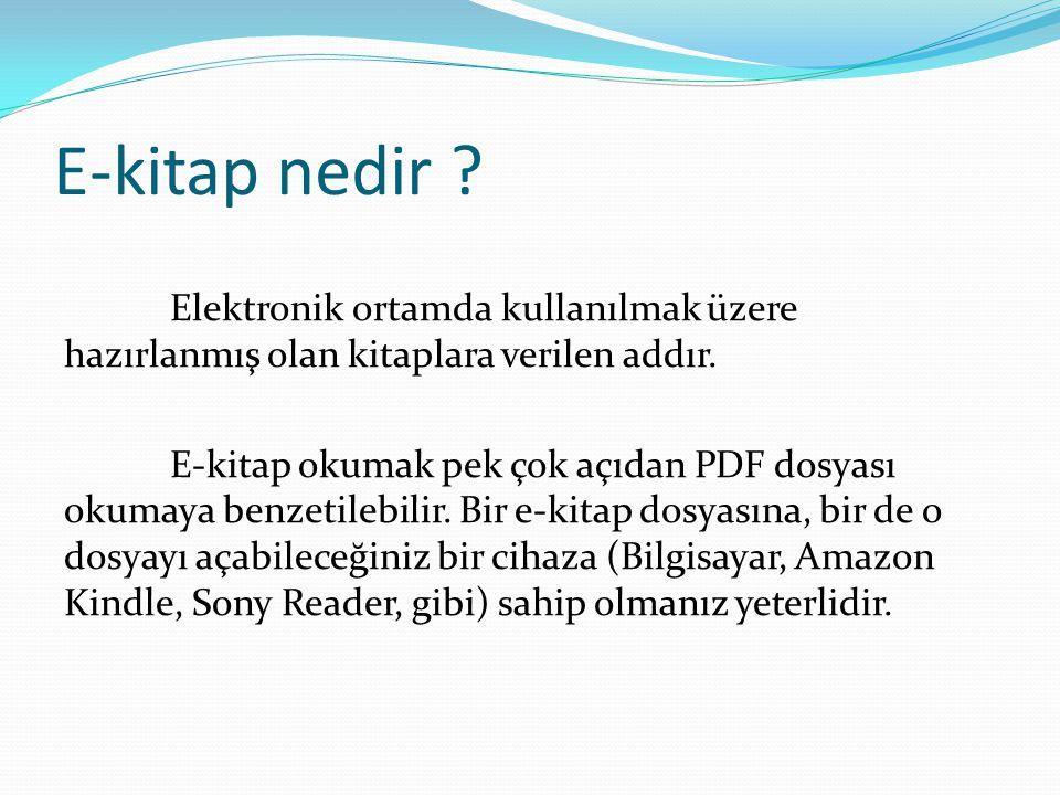 E-kitap nedir