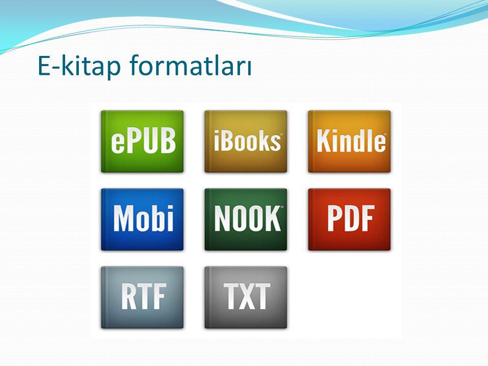 E-kitap formatları