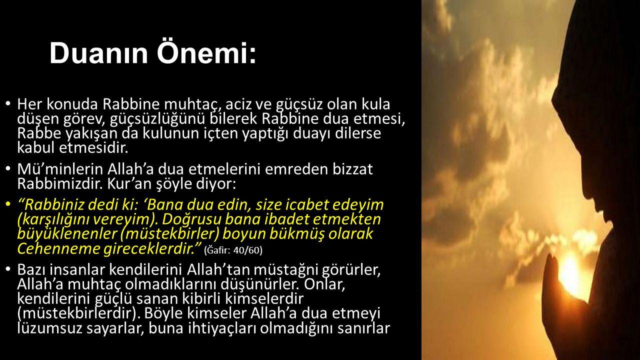 Duanın Önemi: