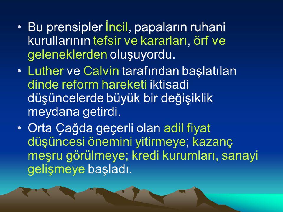 Bu prensipler İncil, papaların ruhani kurullarının tefsir ve kararları, örf ve geleneklerden oluşuyordu.