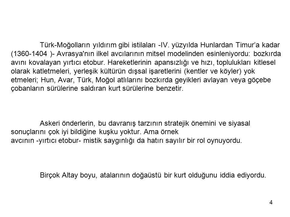 Türk-Moğolların yıldırım gibi istilaları -IV