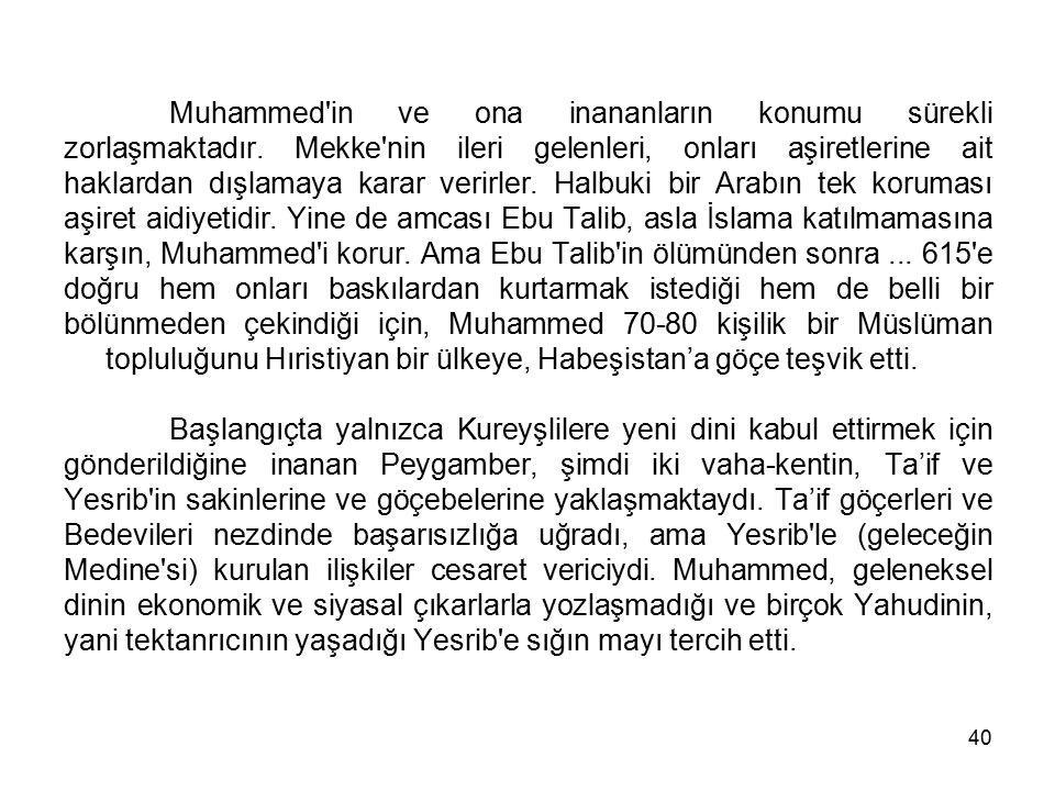 Muhammed in ve ona inananların konumu sürekli zorlaşmaktadır