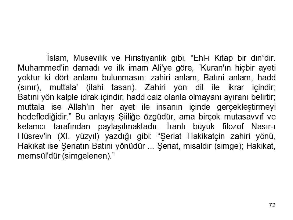 İslam, Musevilik ve Hıristiyanlık gibi, Ehl-i Kitap bir din dir