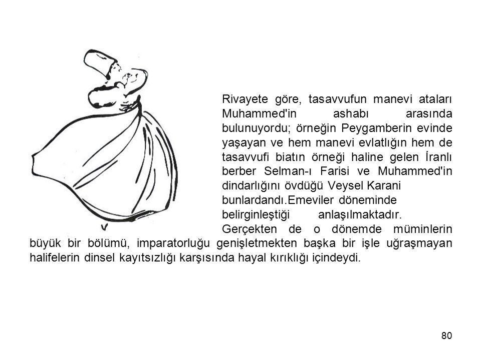 Rivayete göre, tasavvufun manevi ataları. Muhammed in ashabı arasında