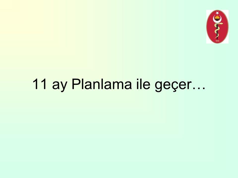 11 ay Planlama ile geçer…
