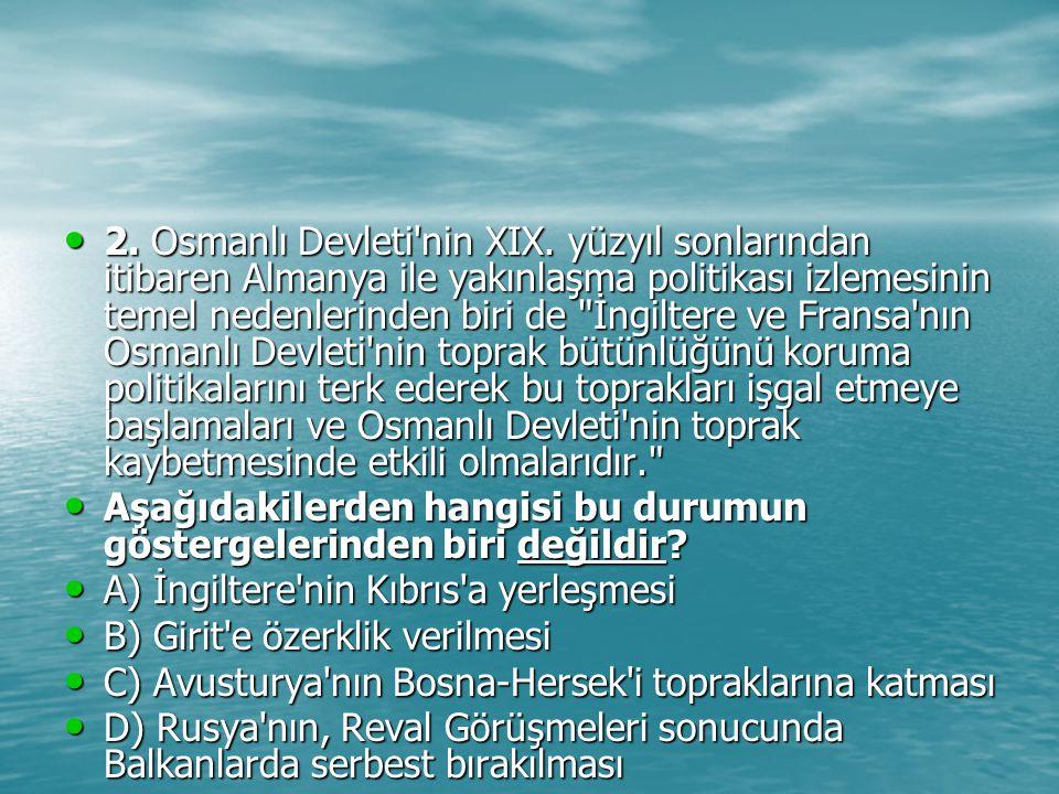2. Osmanlı Devleti nin XIX