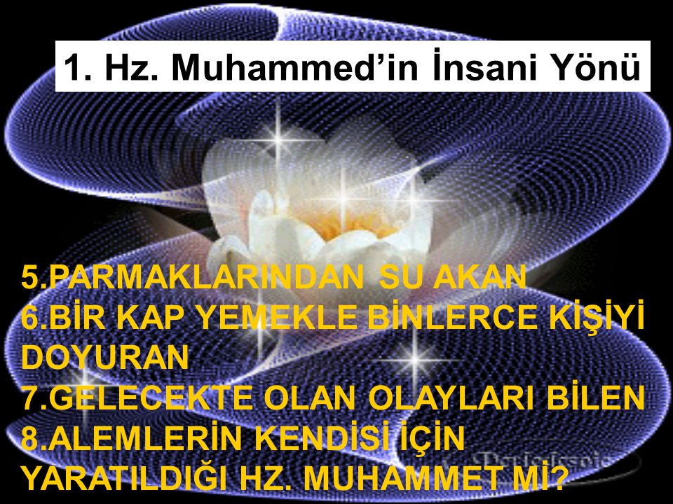 1. Hz. Muhammed'in İnsani Yönü