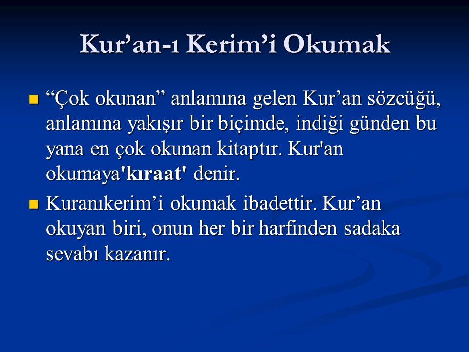 Kur'an-ı Kerim'i Okumak