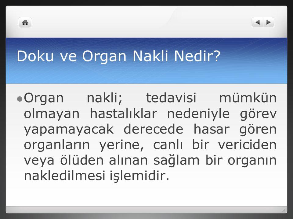 Doku ve Organ Nakli Nedir