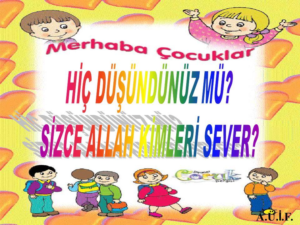 SİZCE ALLAH KİMLERİ SEVER