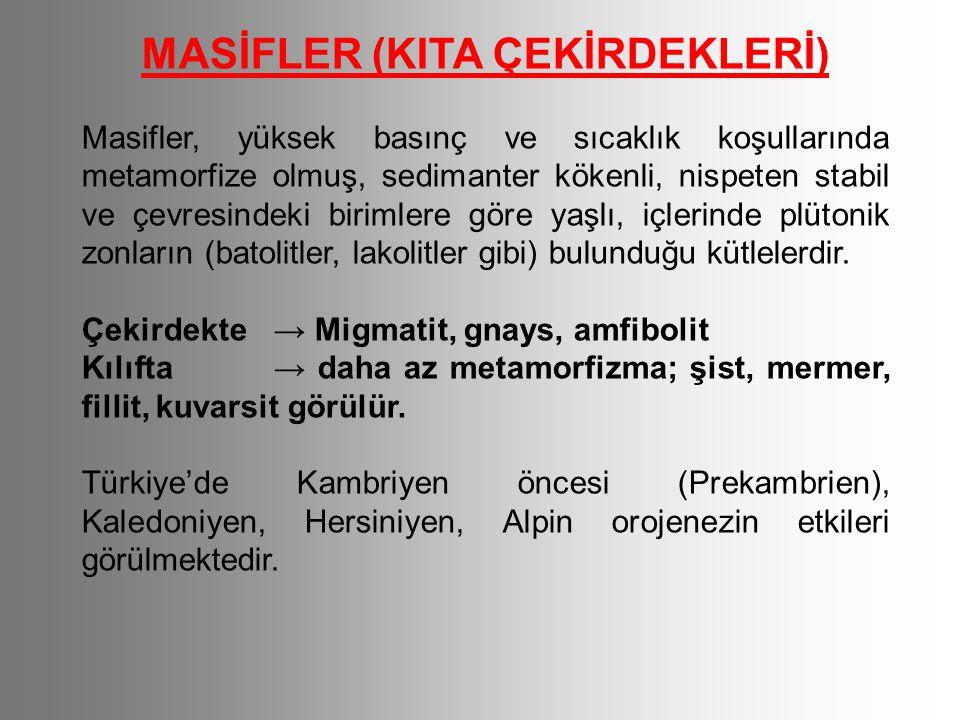 MASİFLER (KITA ÇEKİRDEKLERİ)