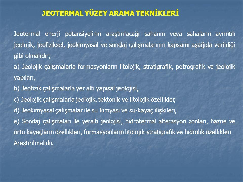 JEOTERMAL YÜZEY ARAMA TEKNİKLERİ