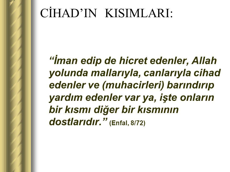 CİHAD'IN KISIMLARI: