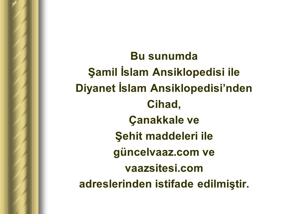 Şamil İslam Ansiklopedisi ile Diyanet İslam Ansiklopedisi'nden Cihad,