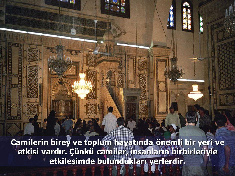 Camilerin birey ve toplum hayatında önemli bir yeri ve etkisi vardır