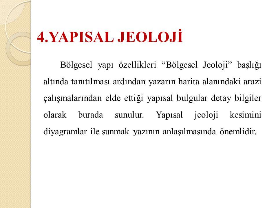 4.YAPISAL JEOLOJİ