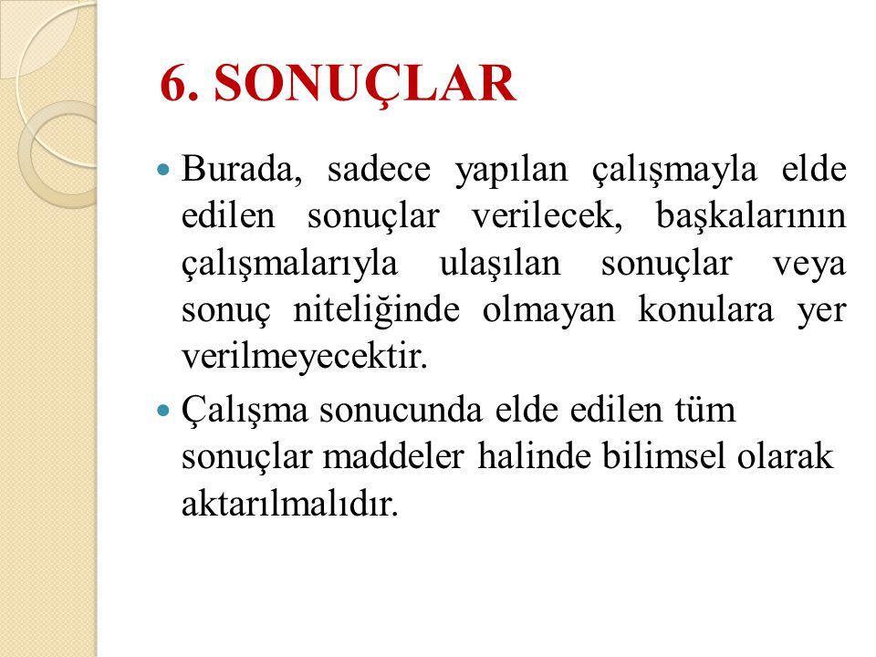 6. SONUÇLAR