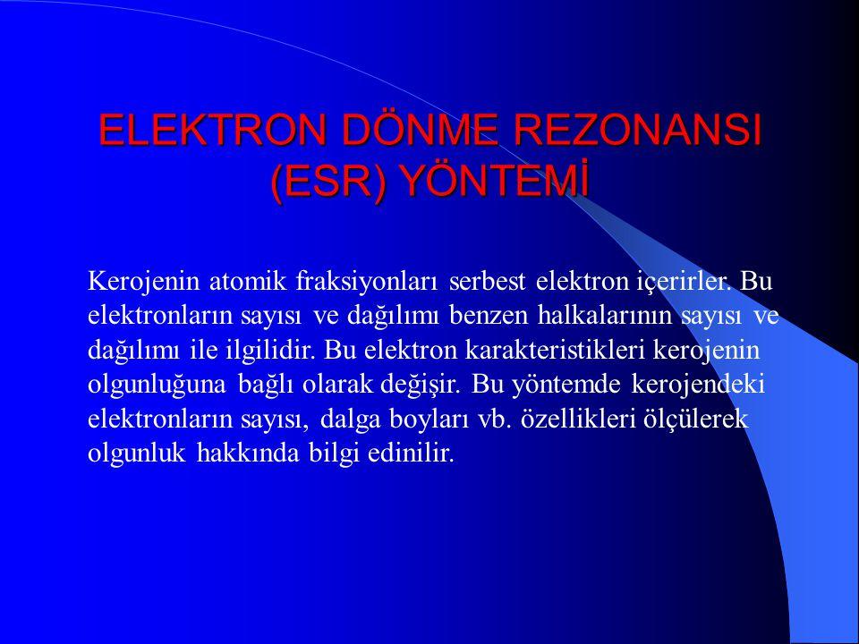 ELEKTRON DÖNME REZONANSI (ESR) YÖNTEMİ