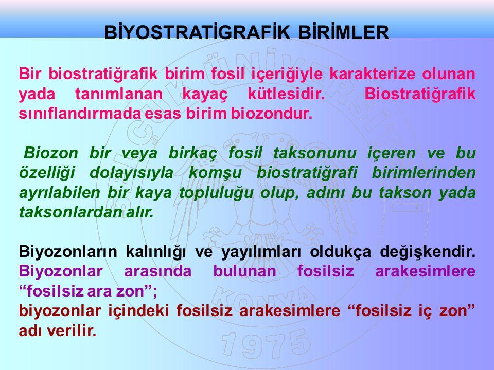 BİYOSTRATİGRAFİK BİRİMLER