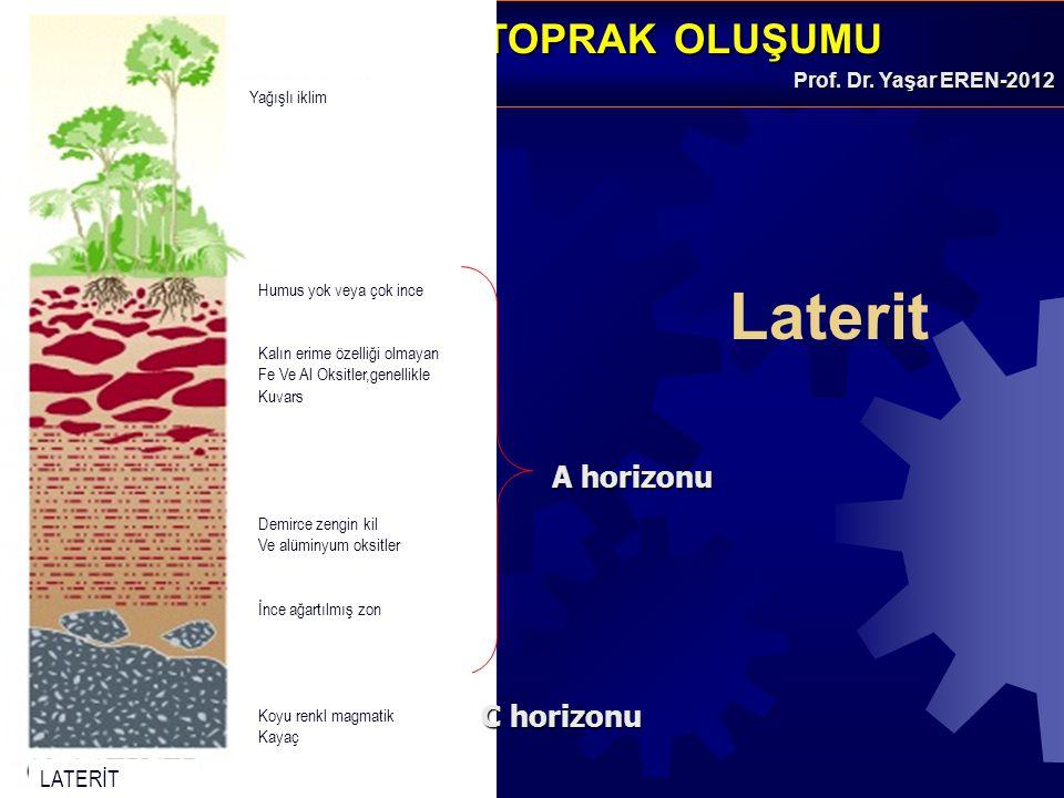 Laterit A horizonu C horizonu LATERİT Yağışlı iklim